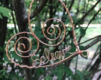 Heart name ornament