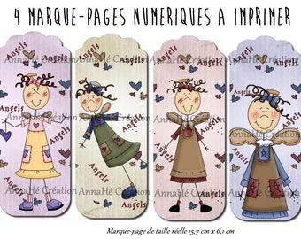 "4 ""Angels"" digital bookmarks"