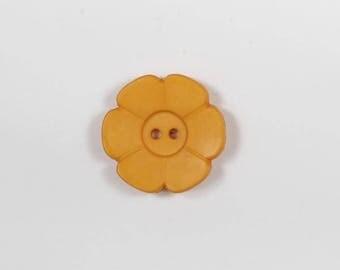 4 orange shaped flower buttons