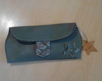 Quality khaki leather glasses cases