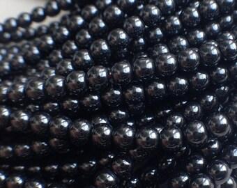 LOT 50 3mm dark grey HEMATITE round beads