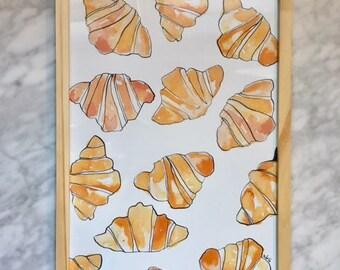 Croissants - A4 framed