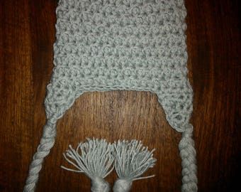 Delicious wool Cap baby merino with ears