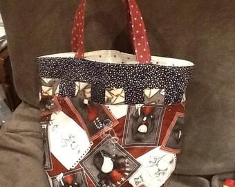 Shopping bag made of patchwork gorjus