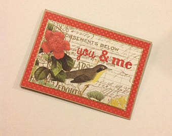 """Valentine's day gift card """"You and Me""""-money card"""