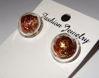 These glass bubbles earrings gold
