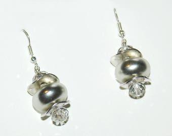 "Earrings ""shades of grey"""