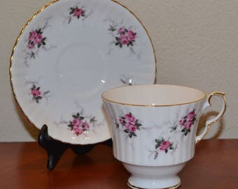 Vintage Princess House Exclusive Hammersley Fine Bone China Tea Cup and Saucer