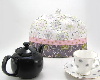 Modern Mauve Classic (Dome) Tea Cozy (Cosy) 2-cup