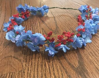 Periwinkle Flower Crown