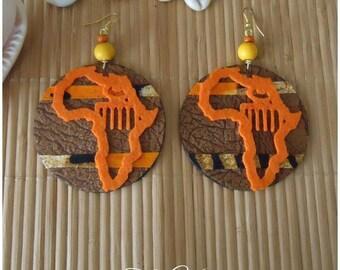 Orange felt from Africa