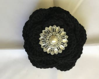 Large Crochet Flower Key Ring or Planner/Purse Charm (1B)
