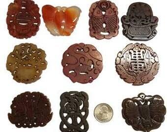 Carved Soapstone Pendants