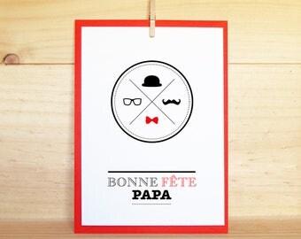 Carte postale - Fête des pères