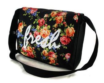Shoulder Bag Crossbody School College Uni Messenger Bag Fresh