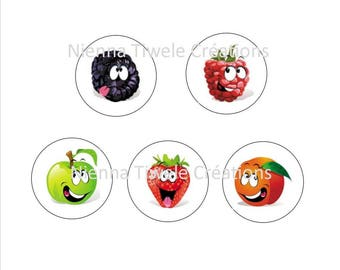 "Digital images for hobby ""Funny fruit"" 50"""