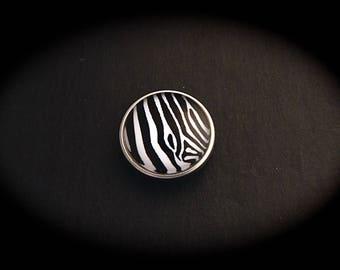 Cabochon 18mm for jewelry - Zebra NB fancy pressure