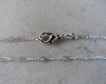 925 sterling silver chain length: 45 cm width: 2 mm + 1 certificate of authenticity