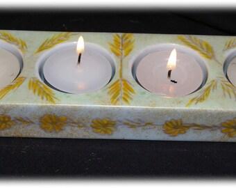 Candle holder tealight Quartet porcelain tealight - candle holder porcelain Dimensions: 21 * 6 * 2.5 cm