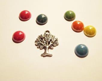 1 silver tree charm