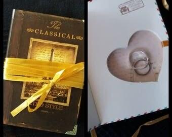Holder / book dug Paris Vintage heart