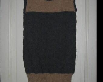 Wool grey/beige pinafore