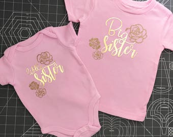Big Sister Little Sister custom shirts onesie,little sister onesie,sister outfits,Big Brother Little Brother shirts,matching siblings,kids