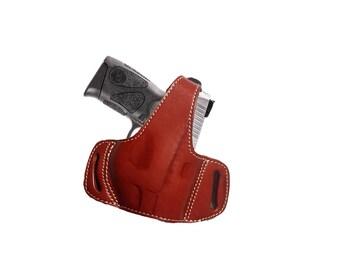 Leather Thumb Break Belt Holster for Taurus Millennium Pro G2 PT 140 Black or Brown