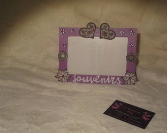 """memories of lace"" picture frame scrapbooking"
