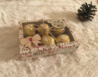 Box 6 Ferrero Rocher scrapbooking Christmas chocolates
