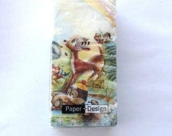 10 tissue paper - FAWN art forest animals 3866