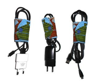Blue African fabric cables range