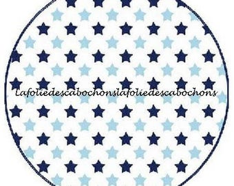 "Cabochon stuck resin 25 mm for jewelry theme ""Star"""