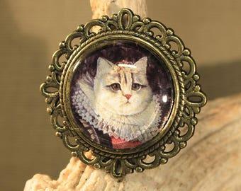 "Ring adjustable ""cat Renaissance"" Steampunk, retro, vintage, medieval"