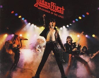 Judas priest unleashed in the east album cover poster 24 x 24 inches