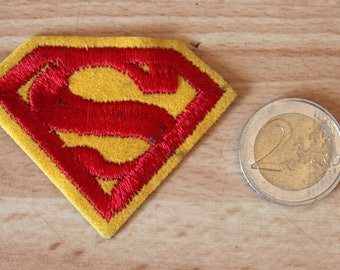 Superman logo sew on patch