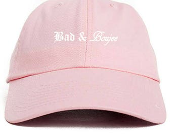 Bad & Boujee  Dad Hat Adjustable Baseball Cap New - Pink