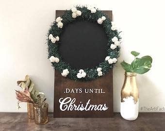 days till christmas~ wall sign/foyer decor/christmas decor