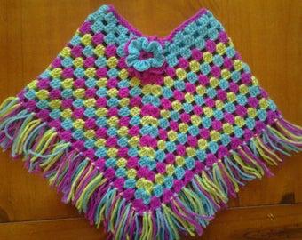3/6 months crochet poncho
