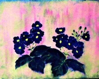 canvas Primroses
