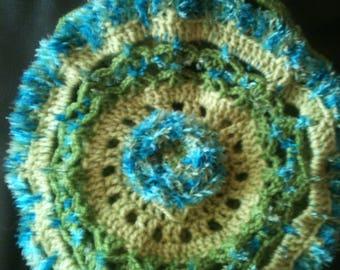 trendy hand crocheted beret