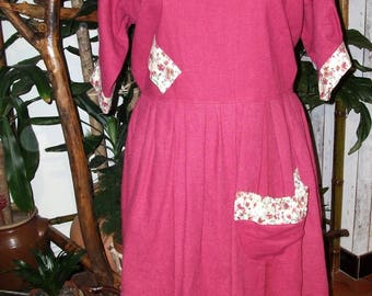 set dress and petticoat linen large size