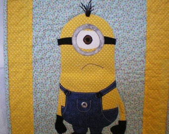 minions patchwork wall hanging