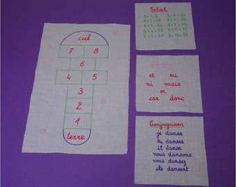 Kit cotton white number 3 for hopscotch and white boards of the inner bag