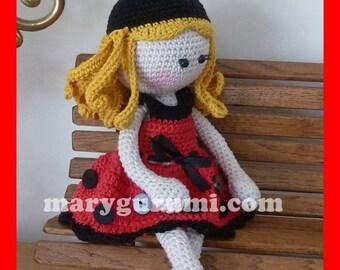 Ladybug doll, plush crochet, Amigurumi