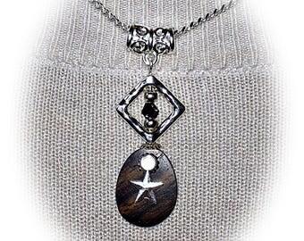 Mozambique EBONY wood necklace