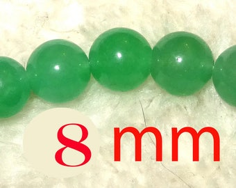 ideal for creating green agate Jasper jade beads 8mm 6