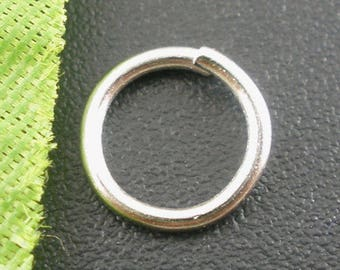 Set of 10 silver matte 8mm (A21) jump rings