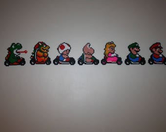 Pearls Hama Mario Kart (set of 7 characters)