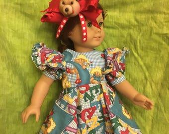 "Back to School 18""doll Dress"